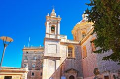 St Paul Cathedral of Mdina in Malta. Island Royalty Free Stock Photos