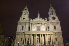 St Paul cathedral at night Stock Photo
