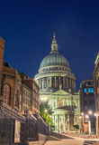 St Paul Cathedral at night in London Stock Image