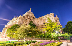 St Paul Cathedral at night - London Royalty Free Stock Photography