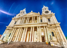St Paul Cathedral at night, London Royalty Free Stock Images