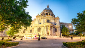 St Paul Cathedral at night, London Royalty Free Stock Photo