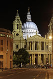 St. paul cathedral. At night, london, england, united kingdom Royalty Free Stock Photos