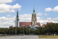 St. Paul Cathedral at Theresienwiese in Munich, 2015 Royalty Free Stock Image