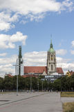 St. Paul Cathedral at Theresienwiese in Munich, 2015 Royalty Free Stock Photos