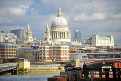 St Paul Cathedral view from the South Bank Royalty Free Stock Photography