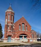 St. Paul Catholic Church. This is an early spring picture of St. Paul Catholic Church in Odell, Illinois. This parish was organized in 1873 and this church was royalty free stock image