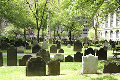 St Paul Church cemetery. A photograph of a cemetery in lower manhattan Stock Photo