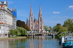 St. Paul Church i Strasburg, Frankrike Royaltyfri Foto