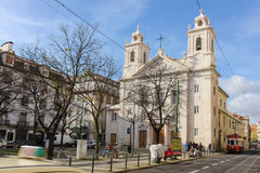 St. Paul church. Lisbon. Portugal Stock Photos
