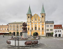 St Paul Church. Marianske square in Zilina. Slovakia Royalty Free Stock Images