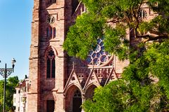 St Paul Church met het is toenam venster, Straatsburg stock afbeelding