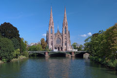 St. Paul Church in Strasbourg, France Stock Photo