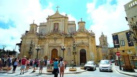 St. Paul Church von Rabat, Malta stock video