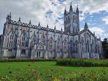 St Paul de Kathedraal is een CNI-Kerk van Noord-India in Kolkata, West-Bengalen, India stock afbeeldingen