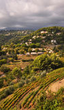 St Paul de Vence in Autumn, Cote d'Azur, France. The view from the amazing hill top town of St Paul de Vence. Located just twenty minutes drive from Nice or Royalty Free Stock Photo