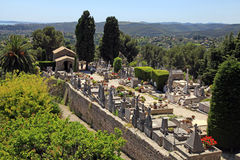 St. Paul de Vence cemetery, France Royalty Free Stock Images