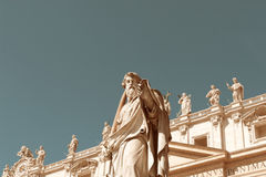 St. Paul in front of  Vatican Royalty Free Stock Photos