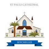 St Paul histo van Kathedraalvictoria seychelles flat royalty-vrije illustratie