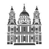 St Paul katedra w Londyn ilustracji