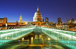 St. Paul Kathedraal in Londen Stock Afbeelding