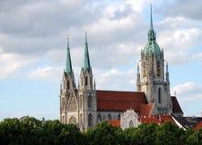 St. Paul kathedraal in München Stock Afbeeldingen