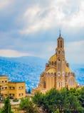 St Paul Kathedrale in Harissa, der Libanon lizenzfreies stockfoto
