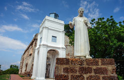 St Paul kerk, de erfenisstad van Malacca Royalty-vrije Stock Foto