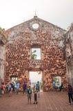 St Paul Kirche in Malakka Stockfotos