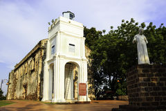 St Paul kyrka i Malacca Malaysia Arkivbilder