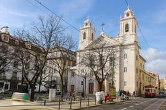 St Paul kyrka. Lissabon. Portugal Arkivfoton