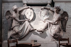 St Paul Londyn ściany Katedralna statua Zdjęcie Royalty Free