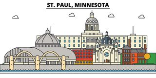 St. Paul, Minnesota. City skyline architecture  Royalty Free Stock Photo