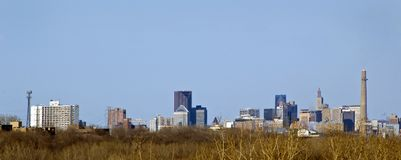St Paul, Minnesota Skyline Royalty Free Stock Photography