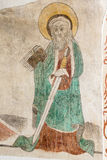 St Paul mit Klinge und Buch in seinen Händen Lizenzfreies Stockbild