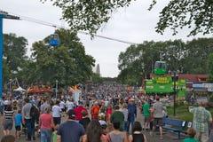 St Paul, Mn - 27 Augustus, 2018: De markt van de Staat van Minnesota is het grootste verzamelen zich in Minnesota stock afbeeldingen