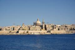 St Paul pro-Kathedraal in Valletta, Hoofdstad van Malta stock foto's