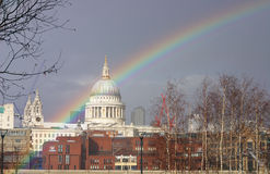 St Paul Rainbow2 Stock Image