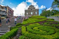 St Paul ruiny w Macau Fotografia Stock