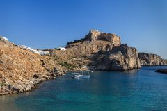 St Paul's Bay Beach in Lindos Stock Images