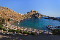 St Paul's Bay Beach in Lindos Stock Photo