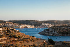 St Paul's bay panoramic view. St paul's bay. Malta south Europe Royalty Free Stock Photography