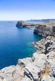 St paul's bay and rocks at Lindos, Rhodes, Greece Stock Image