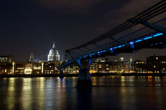 St Paul's Cathedral. At night Royalty Free Stock Photos