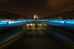 St Paul's Cathedral. With the Millennium bridge Royalty Free Stock Photos