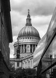 St. Paul's Cathedral in black and white Royalty Free Stock Photography