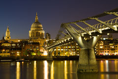 St. Paul's cathedral during the blue hour Royalty Free Stock Photo