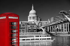 St Paul s Cathedral with  boat in London, England Stock Image