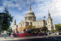 St. Paul's Cathedral. Catholic Church in central London stock images