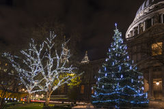 St. Paul's Cathedral at Christmas Stock Image